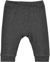 Minymo Kinder Leggings Leggings Bamboo Dark Grey Melange