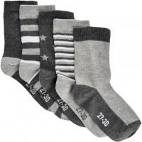 Minymo Kinder Socken Sock W. Pattern (5-Pack) Light Grey Melange