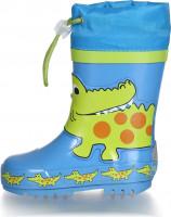Playshoes Kinder Gummistiefel Krokodil Blau/Grün