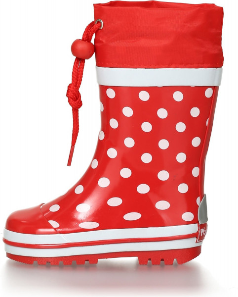 Playshoes Kinder Gummistiefel Punkte Rot