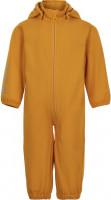 Minymo Kinder Outdoor Overall Softshell Suit Solid Golden Orange