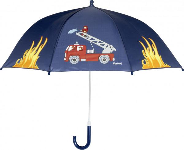 Playshoes Kinder Regenschirm Feuerwehr marine