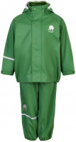 Celavi Kinder Regenset Basic Rainwear Set Solid PU Elm Green