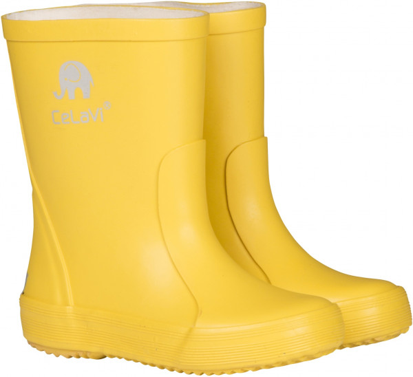Celavi Kinder Gummistiefel Basic Wellies Solid Mineral Yellow