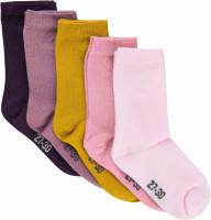 Minymo Kinder Socken Ankle Sock - Multi (5-Pack) Shadow Purple