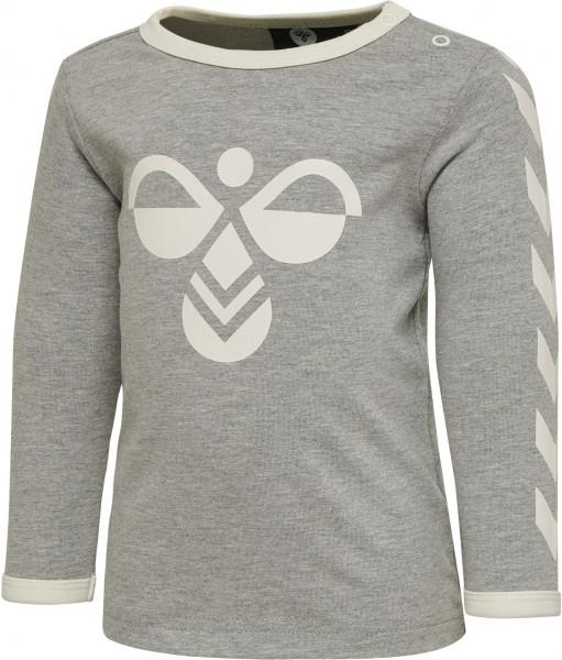 Hummel Kinder Longsleeve Flipper T-Shirt Grey Melange