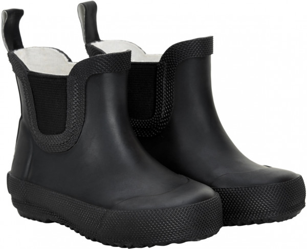 Celavi Kinder Gummistiefel kurz Basic Wellies Short Solid Black