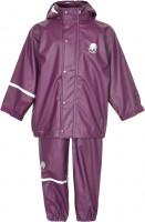 Celavi Kinder Regenset Basic Rainwear Set Solid PU Blackberry Wine