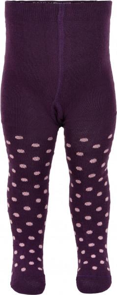 Minymo Mädchen Strümpfe Baby Stocking W. Pattern Shadow Purple