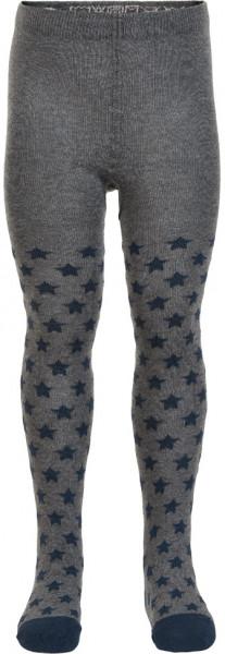Minymo Jungen Strümpfe Baby Stocking W. Pattern Dark Grey Melange