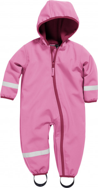 Playshoes Kinder Softshell-Overall pink