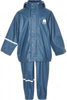 Celavi Kinder Regenset Basic Rainwear Set Solid PU Iceblue