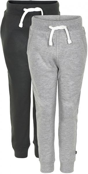 Minymo Jungen Jogginghose Basic 36 Sweat Pant (2-Pack) Anthacite Black