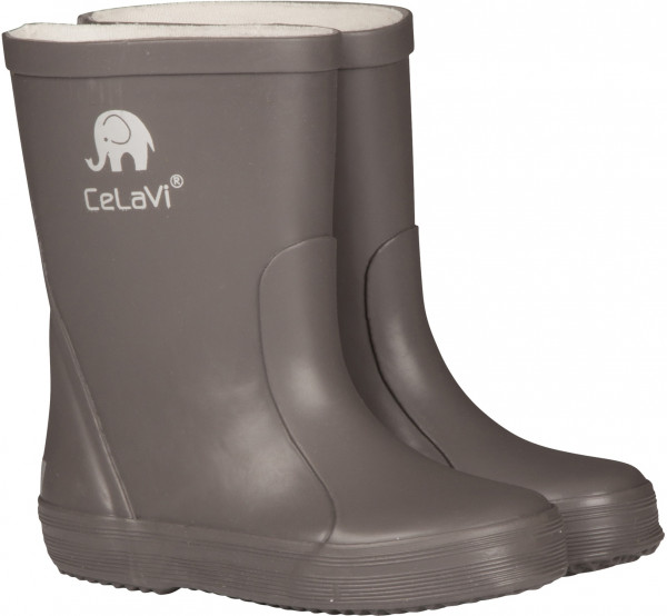 Celavi Kinder Gummistiefel Basic Wellies Solid Grey