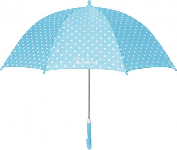 Playshoes Kinder Regenschirm Punkte türkis