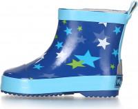 Playshoes Kinder Gummistiefel Halbschaft Sterne Blau