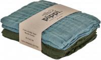 Pippi Baybwear Kinder Windeln Organic Cloth Muslin (4-Pack) 65x65 cm Lead