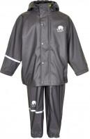 Celavi Kinder Regenset Basic Rainwear Set Solid PU Grey