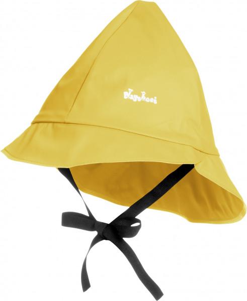 Playshoes Kinder Regenmütze, Baumwollfutter gelb