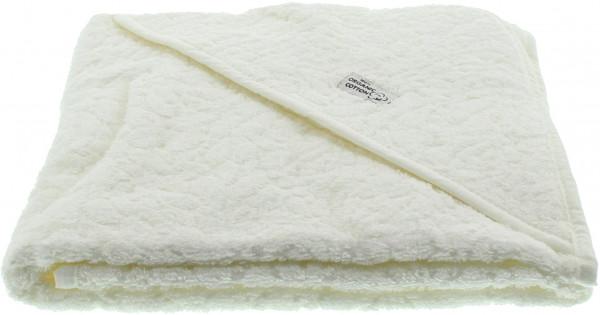 Pippi Baybwear Kinder Badetuch Organic Hooded Towel 83x83 cm White