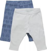 Pippi Babywear Kinder Leggings mit AOP (2er Pack) Blue Mirage