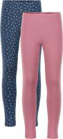 Minymo Mädchen Leggings Basic Leggings (2-Pack) Mesa Rose