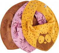 Pippi Baybwear Mädchen Halstuche Schal Bandana Bib Girl -Aop (3-Pack) Mineral Yellow