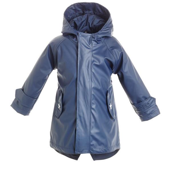 BMS Kinder Regenjacke HafenCity Coat Kids Pu/Lining Marine