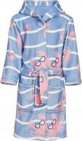 Playshoes Kinder Fleece-Bademantel Krebs Blau/Pink