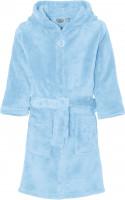 Playshoes Kinder Fleece-Bademantel Uni Bleu