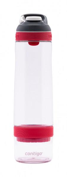 Contigo Trinkflasche Cortland Infuser Autospout Clear Waterlemon mit 770ML Fassungsvermögen