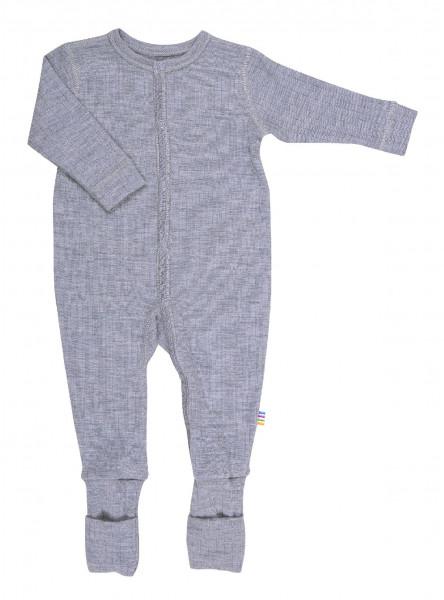 Joha Kinder Baby Schlafoverall mit Füßen Light Grey Melange