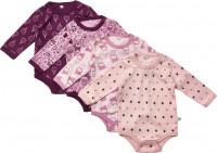 Pippi Babywear Kinder Body LS AO-Printed (4er Pack) Lilac