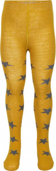 Minymo Kinder Strümpfe Stocking W. Pattern Mineral Yellow