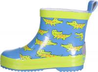 Playshoes Kinder Gummistiefel Halbschaft Krokodil Blau