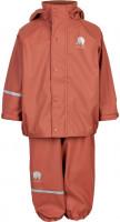 Celavi Kinder Regenset Basic Rainwear Set Solid PU Redwood