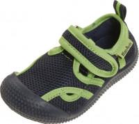 Playshoes Kinder Schuh Aqua-Sandale Marine/Grün