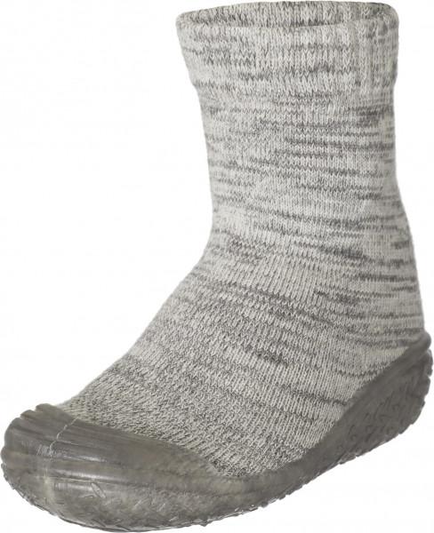 Playshoes Kinder Hausschuh gestrickt grau