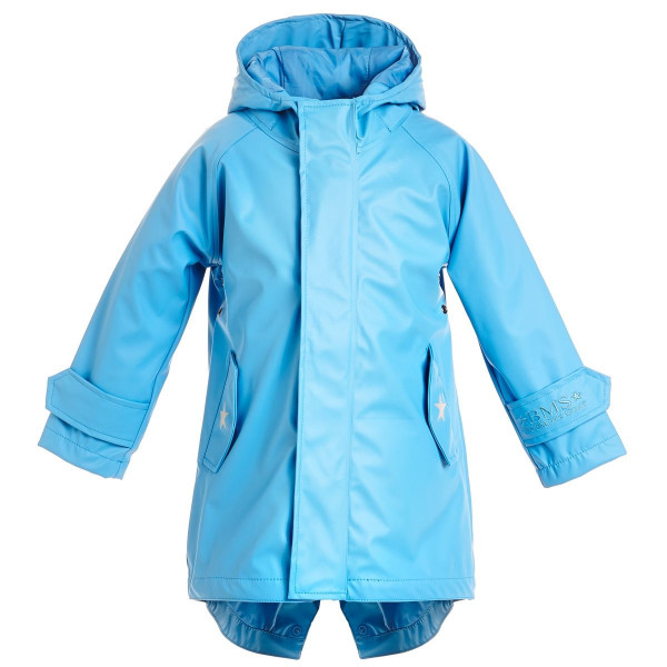 BMS Kinder Regenjacke HafenCity Coat Kids Pu/Lining Hellblau