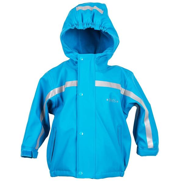BMS Kinder Regenjacke Antarctic Softskin Buddeljacke OekoTex Hellblau
