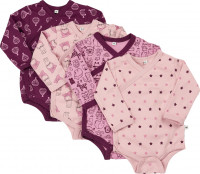 Pippi Babywear Kinder Body Wrap AO-Printed (4er Pack) Lilac