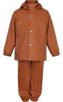 En Fant Kinder Basic Regenanzug, PU Regenbekleidungs-Set Solid 240000-Leather Brown