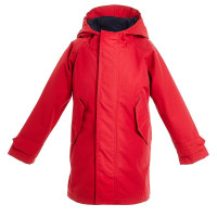 BMS Kinder Regenjacke HafenCity Coat Kids Softlan Rot