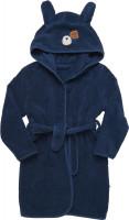 Pippi Babywear Kinder Bademantel Organic Bath Robe Dress Blues