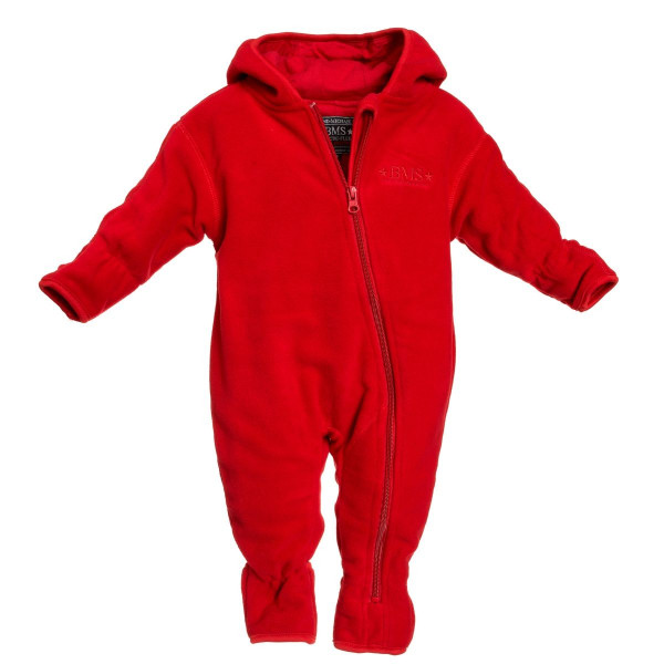 BMS Kinder / Kleinkinder Antarctic Clima-Fleece Baby Overall Rot