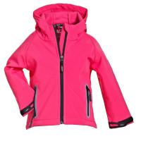 BMS Kinder Softshell Kids Jacke Stealth mit Kapuze Pink