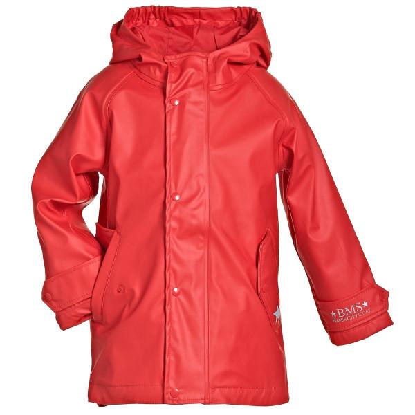 BMS Kinder Regenjacke HafenCity Coat Kids Pu/Lining Rot