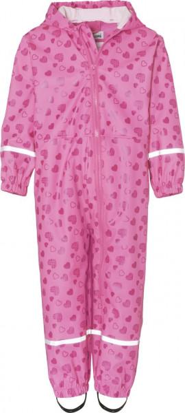 Playshoes Kinder Regen-Overall Herzchen Allover Pink