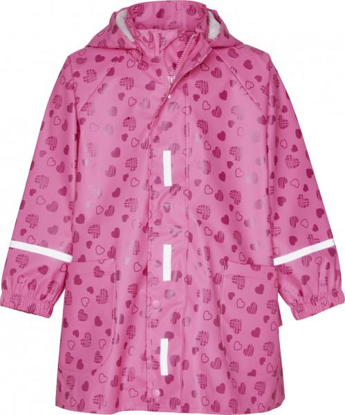 Playshoes Kinder Regen-Mantel Herzchen allover pink