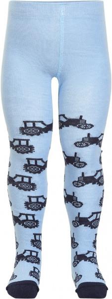 Minymo Jungen Strümpfe Baby Stocking W. Pattern Skyway Blue